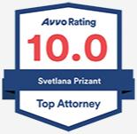 AVVO Rating Svetlana Prizant